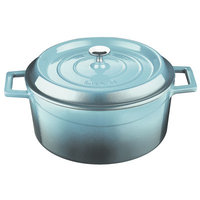 Lava Cookware Signature Enameled Cast-Iron Dutch Oven Size: 4.75 Qt, Color: Blue Opal
