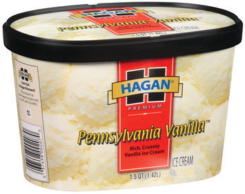 Hagan Pennsylvania Vanilla Ice Cream 1.5 Qt Carton