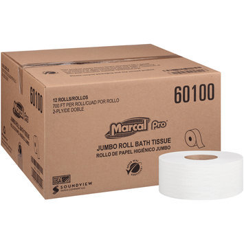 Marcal Pro-Putney 2-Ply Jumbo Roll Bath Tissue 12-700 ft. Rolls