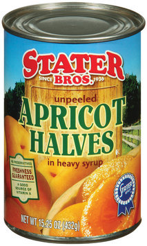 Stater Bros. In Heavy Syrup Unpeeled Apricot Halves 15.25 Oz Can