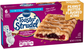 Pillsbury Toaster Strudel™ Limited Edition Peanut Butter & Mixed Berry Toaster Pastries 6 ct Box