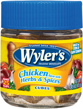 Wyler's® Chicken Flavor with Herbs & Spices Instant Bouillon Cubes 3.25 oz. Jar