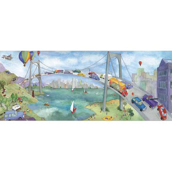4 Walls Watercolor Journey Bridge Mural in Multi