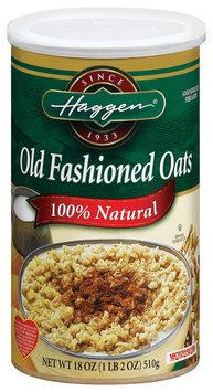 Haggen Old Fashioned 100% Natural  Oats 18 Oz Cylinder