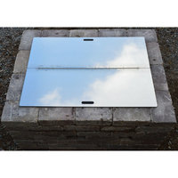 Firebuggz Outdoor Fire Pit Supplies 44 in. Square Fire Pit Snuffer Cover Stainless FB03-0019