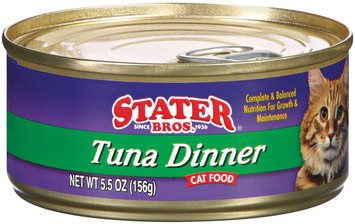 Stater Bros. Tuna Dinner Cat Food 5.5 Oz Can