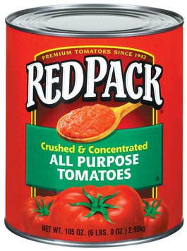 RedPack All Purpose Crushed & Concentrated Tomatoes 105 Oz Can