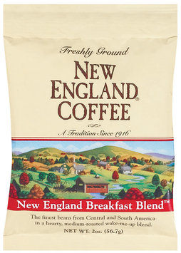 New England Coffee Freshly Ground 100% Arabica Coffee New England Breakfast Blend 2 Oz Bag