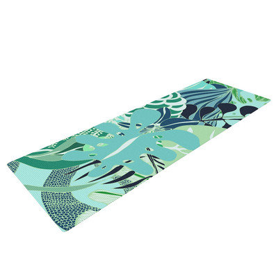 Kess Inhouse Giungla by Anchobee Floral Yoga Mat