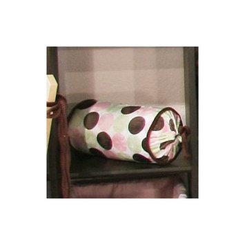 Brandee Danielle Minky Dot Cotton Bolster Pillow Color: Pink