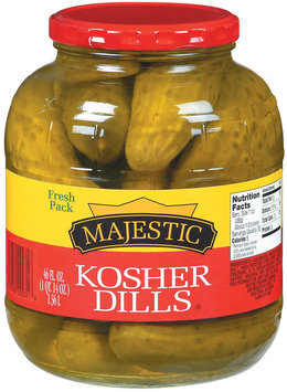 Majestic Kosher Dills Pickles 46 Oz Jar