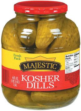 Majestic Kosher Dills Pickles 46 Oz Jar