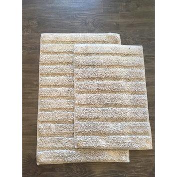 Am Home Textiles Ladder 2 Piece Bath Mat Set, Grey