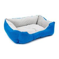 Aleko Soft Plush Pet Cushion Crate Bed Mat Color: Blue