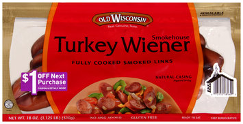 Old Wisconsin® Smokehouse Turkey Wiener 18 oz. Pack