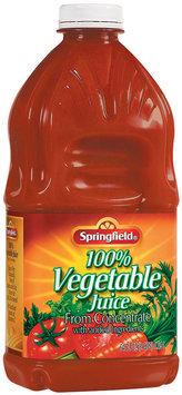 Springfield 100% Vegetable Juice 64 Fl Oz Plastic Bottle