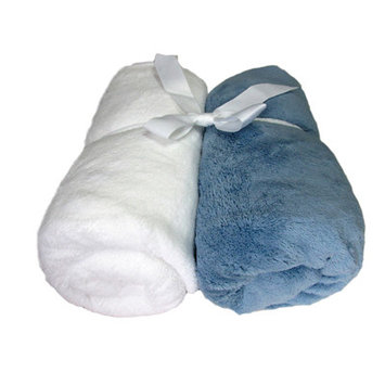Cozy Fleece Microplush Fitted Crib Sheet Color: Blue/White