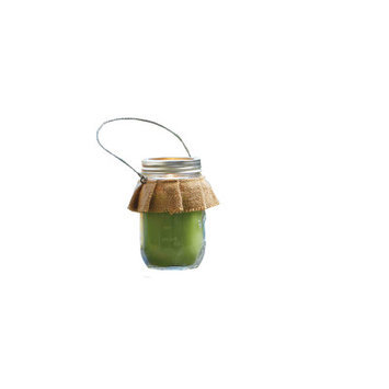 Mud Pie South Citronella Jar Candle (Set of 2) Color: Green