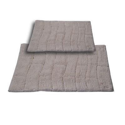 Textile Decor Castle 2 Piece 100% Cotton New Tile Spray Latex Bath Rug Set, 24 H X 17 W and 40 H X 24 W, Ivory