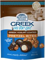 Rickland Orchards™ Greek On The Go!™ Dark Chocolate Greek Yogurt Coated Pretzel Bites 6 oz. Bag
