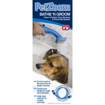 Petzoom Pet Zoom Bathe N' Groom Indoor/ Outdoor Dog Washer and Grooming System with 4 Foot Hose