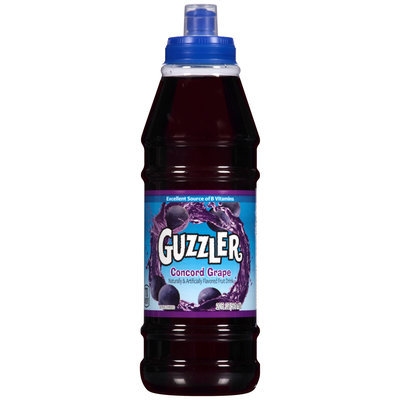 Guzzler® Concord Grape Fruit Drink 20 fl. oz. Bottle