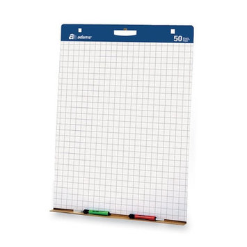 Adams Business Forms ABFEP927342 Easel Pads wCarry Handle 1in. Grid 50 SHPD 2 PDCT White