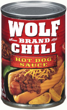 Wolf Hot Dog Sauce Chili 11 Oz Can