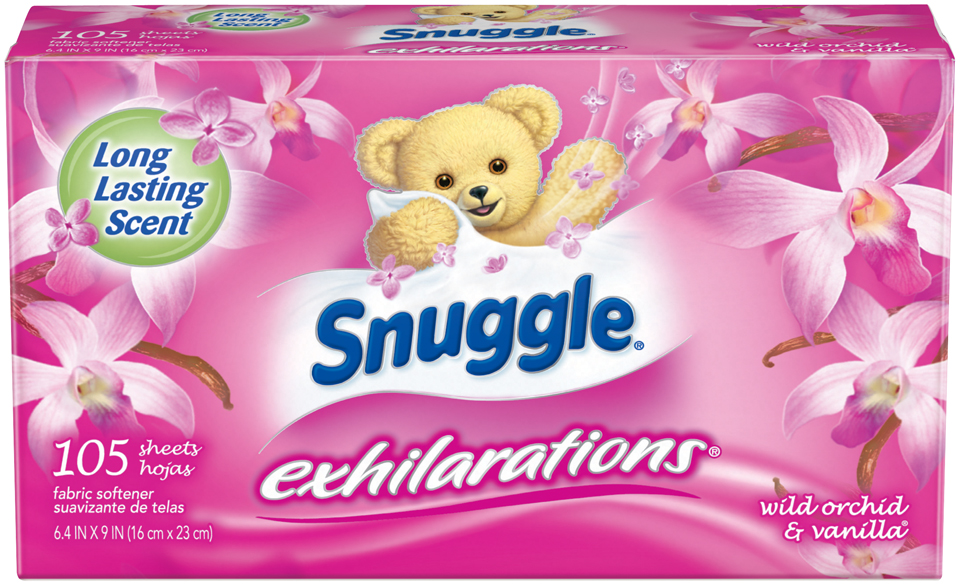 Snuggle® Exhilarations® Wild Orchid & Vanilla® Fabric Softener Dryer Sheets 105 ct Box