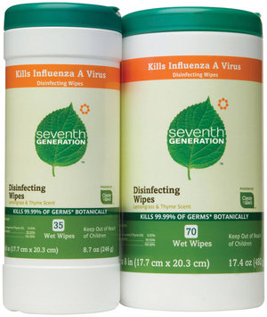 Seventh Generation Disinfectant Wipes Group Household Cleaner   Canister