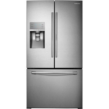 Samsung 30.2 cu. ft. French Door Refrigerator in Stainless Steel with Food Showcase Design RF30HDEDTSR