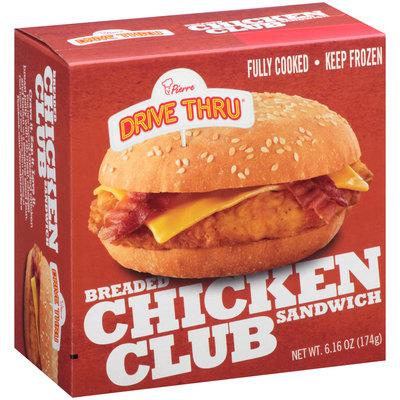 Pierre™ Drive Thru® Breaded Chicken Club Sandwich 6.16 oz. Box