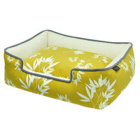 PLAY Bamboo Mustard Lounge Dog Bed Small