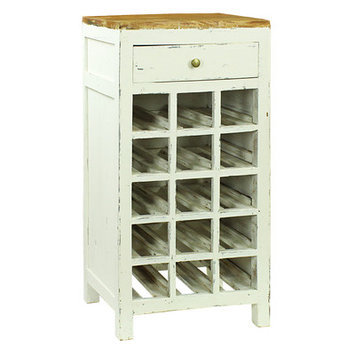 Antique Revival Haylee 15 Bottle Wine Cabinet