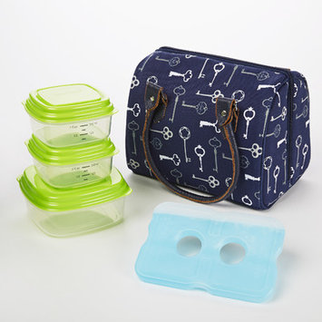 Fit & Fresh Jackson 5 Piece Insulated Lunch Bag Set