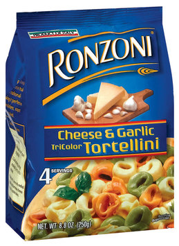 Ronzoni  Cheese & Garlic Tri Color Tortellini 8.8 Oz Bag