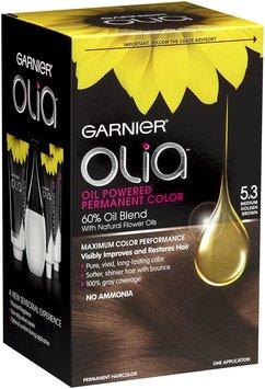 Garnier® Olia™ Oil Powered Permanent Haircolor, 5.3 Mediun Golden Brown