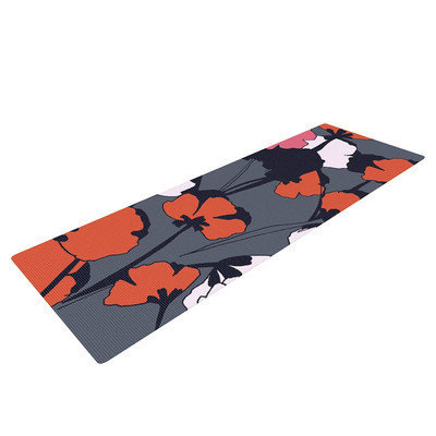 Kess Inhouse Pop Flowers by Gabriela Fuente Yoga Mat