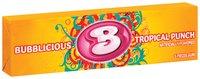 Bubblicious 5 Piece Packs Tropical Punch Bubble Gum 5 Ct
