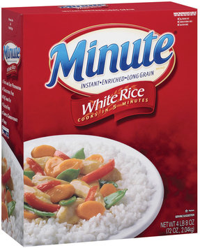 Minute White Instant Enriched Long Grain Rice