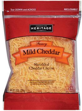 American Heritage® Fancy Shredded Mild Cheddar Cheese 8 oz.