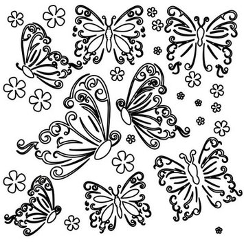 The Crafters Workshop The Crafter's Workshop Butterflies Template