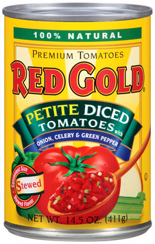 Red Gold® Petite Diced Tomatoes with Onion, Celery & Green Pepper 14.5 oz. Can
