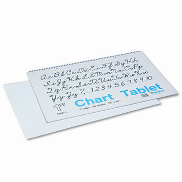 Pacon Creative Products Chart Tablets w/Cursive Cover, Ruled, White, 30 Sheets/Pad