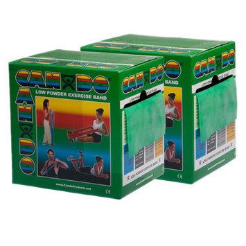 CanDo 10-5493 Low Powder Exercise Band 100 Yard 2 x 50-Yd Rolls Green Medium