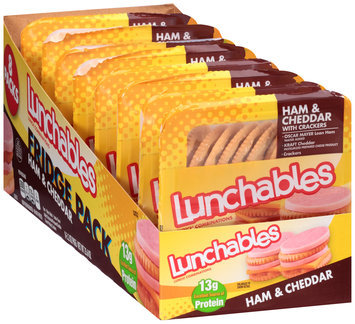 Lunchables Ham & Cheddar with Crackers Lunch Combination 8-3.2 oz. Trays
