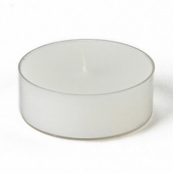 Zest Candle Mega Oversized Plastic Tealights (12 Pieces/Box ) Color: White, Quantity: 144pc/box