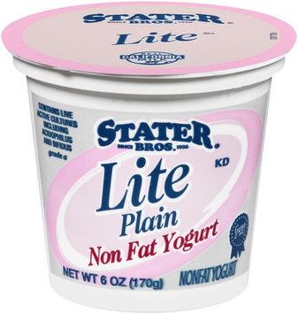 Stater Bros.® Lite Plain Nonfat Yogurt 6 oz. Cup
