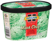 Hagan Mint Chip Ice Cream 1.5 Qt Carton