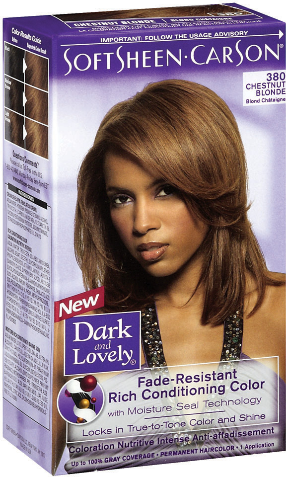 Dark and Lovely Fade-Resistant Rich Conditioning Color Chestnut Blonde Hair Color 1 Ct